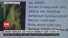 VIDEO: Nenek Berusia 100 Tahun Sembuh Dari Covid-19