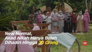 VIDEO: New Normal, Akad Nikah Dihadiri Maksimal 30 Orang