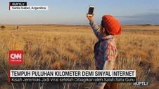 VIDEO: Bocah Tempuh Puluhan Kilometer Demi Sinyal Internet