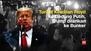 VIDEO: Demo di Gedung Putih, Trump Dilarikan ke Bunker