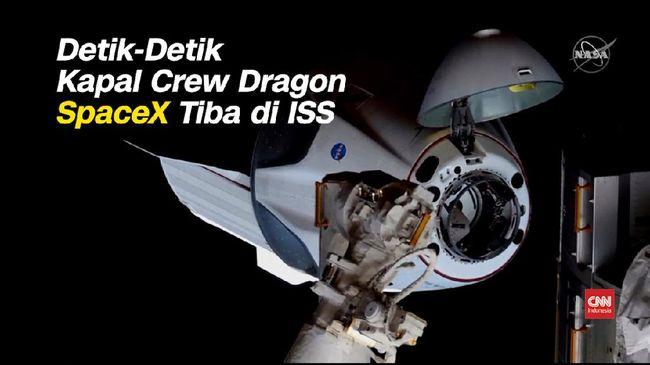 VIDEO: Detik-detik Kapsul Crew Dragon SpaceX Tiba di ISS