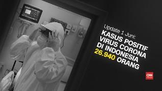 VIDEO: Update Corona 1 Juni: 26.940 Positif dan 7.637 Sembuh