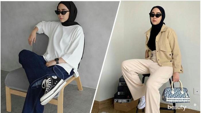 Inspirasi Padu Padan Busana Hijabers Pakai Sneakers ala @strngrrr, Hype Abis!