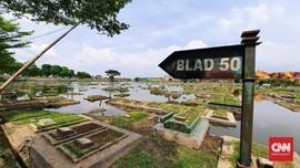 Banjir Tak Pernah Surut di TPU Semper