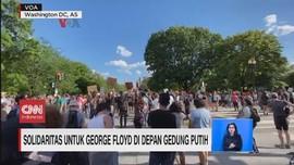 VIDEO: Solidaritas untuk George Floyd di Depan Gedung Putih