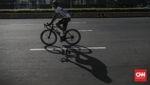 FOTO: Bersepeda Jadi Alternatif Olahraga Saat Corona