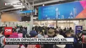 VIDEO: Stasiun Bogor Dipadati Penumpang KRL