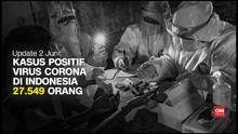 VIDEO: Kasus Positif Corona Capai 27 Ribu Per 2 Juni
