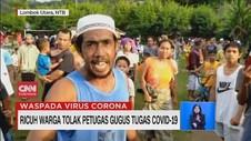 VIDEO: Ricuh Warga Tolak Petugas Jemput Pasien Covid-19