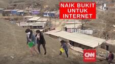 VIDEO: Panjat Bukit Demi Sinyal Internet Untuk Belajar