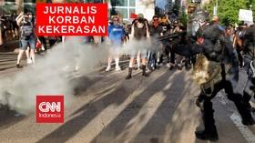 VIDEO: Satu Juru Kamera Dipukul Polisi