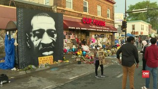 VIDEO: Warga Minneapolis Kenang Potret Mural George Floyd