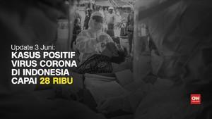 VIDEO: Pasien Positif Virus Corona Tembus 28 Ribu Per 3 juni