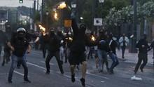 Demo Kematian George Floyd di Yunani Berakhir Rusuh