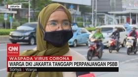 VIDEO: Warga DKI Jakarta Tanggapi Perpanjangan PSBB