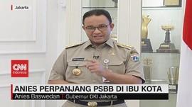 VIDEO: Gubernur Anies Perpanjang PSBB di Ibu Kota