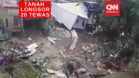 VIDEO: Hujan Disertai Longsor, 20 Orang Tewas