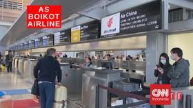 VIDEO: AS Boikot Airline Tiongkok