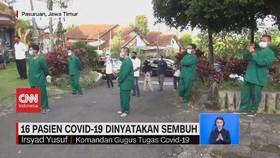 VIDEO: 16 Pasien Covid-19 di Jatim Dinyatakan Sembuh