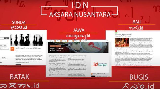 Aksara tradisional Jawa, Batak, Bali, Bugis sebagai domain internet