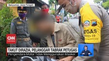 VIDEO: Takut Dirazia, Pengendara Motor Tabrak Petugas