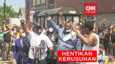 VIDEO: Kakak George Floyd Minta Massa Hentikan Kerusuhan