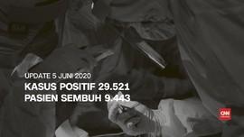 VIDEO: 5 Juni, Kasus Positif 29.521, Pasien Sembuh 9.443
