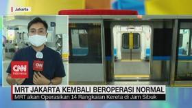 VIDEO: Transisi PSBB, Operasional MRT Jakarta Kembali Normal