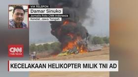 VIDEO: Helikopter TNI AD Jatuh di Kawasan Industri Kendal