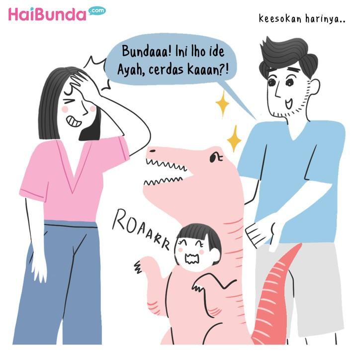 Komik Bunda: Deg-degan Kakak Mulai Masuk Sekolah