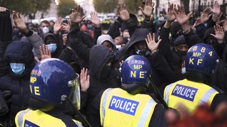 Aksi Demo George Floyd di London Ricuh, 14 Polisi Luka