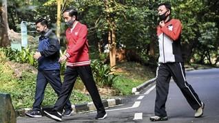 Olahraga di Istana Bogor, Jokowi Ajak Rakyat Jaga Kesehatan