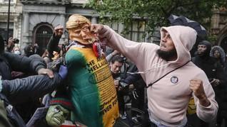 Sayap Kanan Bentrok dengan Pedemo Bela Floyd di London