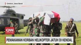 VIDEO: Pemakaman Korban Helikopter Jatuh di Kendal