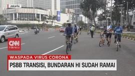VIDEO: PSBB Transisi, Bundaran HI Ramai