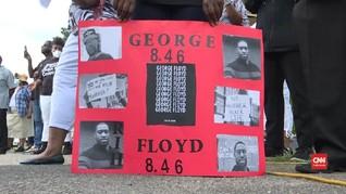 VIDEO: Pelayat Hadiri Penghormatan Terakhir George Floyd