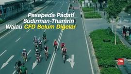 VIDEO: Warga Ramaikan Sudirman-Thamrin Meski CFD Belum Dibuka