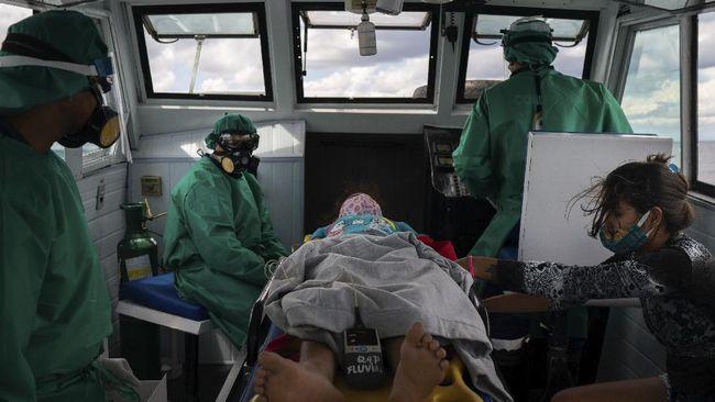 Pemerintah Brasil menemukan penyebaran virus corona (Covid-19) jenis baru di kota Manaus, Amazon.