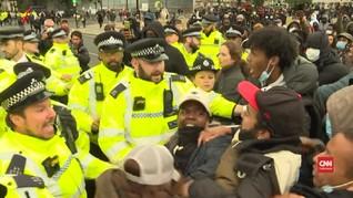 VIDEO: Aksi Demo George Floyd di London Ricuh