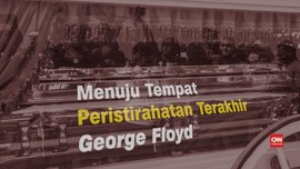VIDEO: Prosesi Jasad Floyd ke Tempat Peristirahatan Terakhir