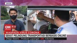 VIDEO: Uji Coba Sekat Pelindung Transportasi Online
