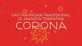 INFOGRAFIS: Daftar Pasar Tradisional Jakarta Terpapar Corona