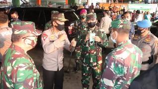 Panglima TNI dan Kapolri Tinjau Tanah Abang Jelang New Normal