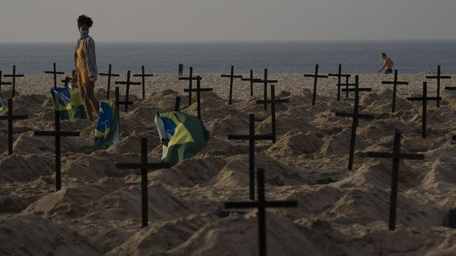 Kematian akibat Corona di Brasil Capai 80 Ribu Jiwa