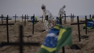 Brasil Catat Lebih dari 100 Ribu Kematian Akibat Corona