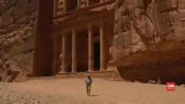 VIDEO:  Taman Arkeologi Petra di Yordania Sepi Akibat Corona