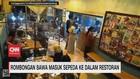 VIDEO: Viral, Rombongan Bawa Masuk Sepeda ke Dalam Restoran