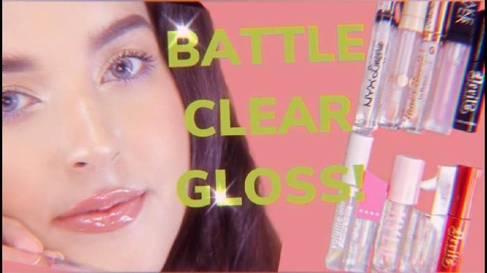 Review Lip Gloss Clear Terkental Hingga Tercair Ala Tasya Farasya