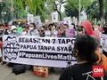 Demo Bebaskan 7 Tapol Papua, Serentak di Berbagai Daerah