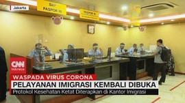 VIDEO: Pelayanan Imigrasi Kembali Dibuka